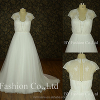 Real sample luxury wedding dress sweetheart wedding gown lace applique bridal dress weddings see through back plus size dress