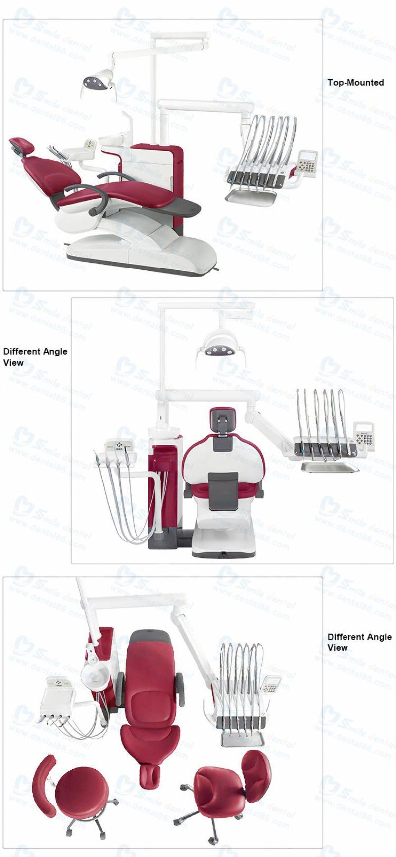 2016 new type Foshan hot sale CE best dental chair unit with LED light A580N