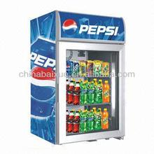 Upright Beverage Cooler Drinking Cabinet BR56 With Display Showcase