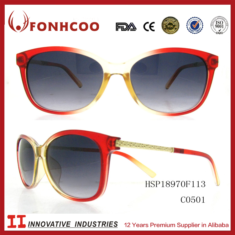 FONHCOO Western Design Luxury Plastic Factory Best Price Kaleidoscope Sunglasses