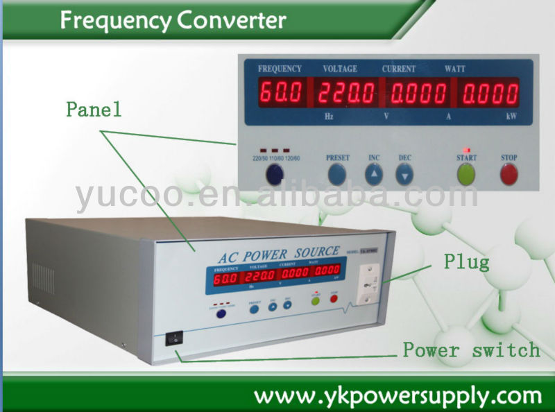 1 Phase to 3 phase voltage adjustable frequency Converter