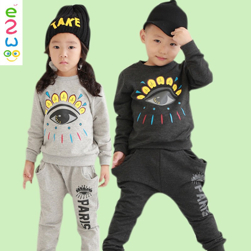 Fashion Design Boys Clothes Cheap Woolen Casual Sports Sets For Children