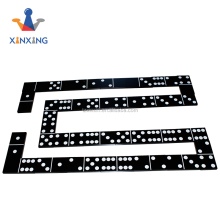 Ideal Solid Wood Domino Trays unique wooden Dominos 28 pieces with black color for outdoor games