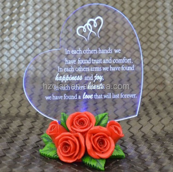 China hot-selling Clear Acrylic Invitation for Weeding