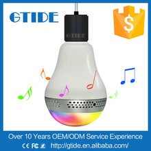Led Light Lamp E27 Portable Bluetooth Speaker Wireless Music Smart Colorful Bulb 3W For iPhone Samsung Smart Phones