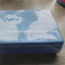 spunlace non-woven cleaning cloth in roll and in bag for home cleaning