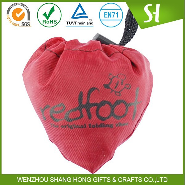 red pull string fruit picking bags/small cotton drawstring bags with logo