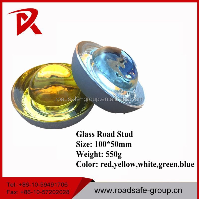 Reflective tempered glass road stud cat eye