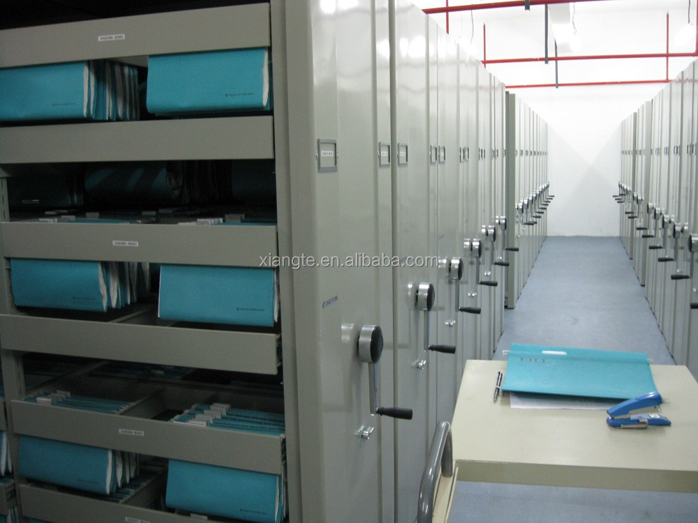movable heavy duty mobile filing system