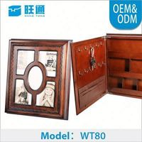 New Product wooden classic Handmade Customized indian jewelry box made in china wholesale custom bangle jewelry box