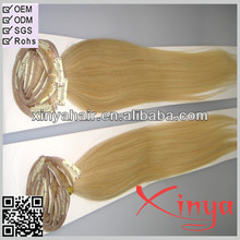 Alibaba express human remy hair Malaysian Clip on Extension