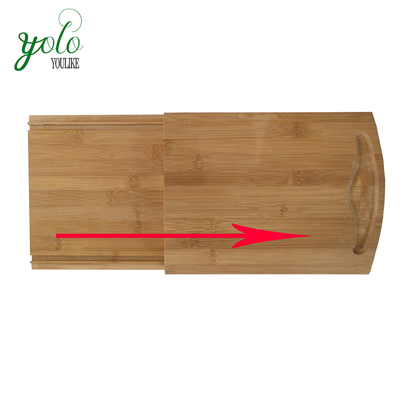 Pull-Out Bamboo Kitchen Appliance Caddy