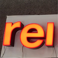 Red channel signage led letters front illuminated sign for advertising