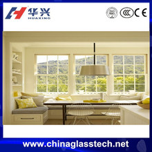 Factory direct lower price sale new design double glazing aluminum window glass types in india