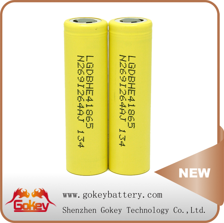 LG 18650 Lithium Ion Battery LG HE4 2500mAh 30A Discharge Current 3.7V Battery