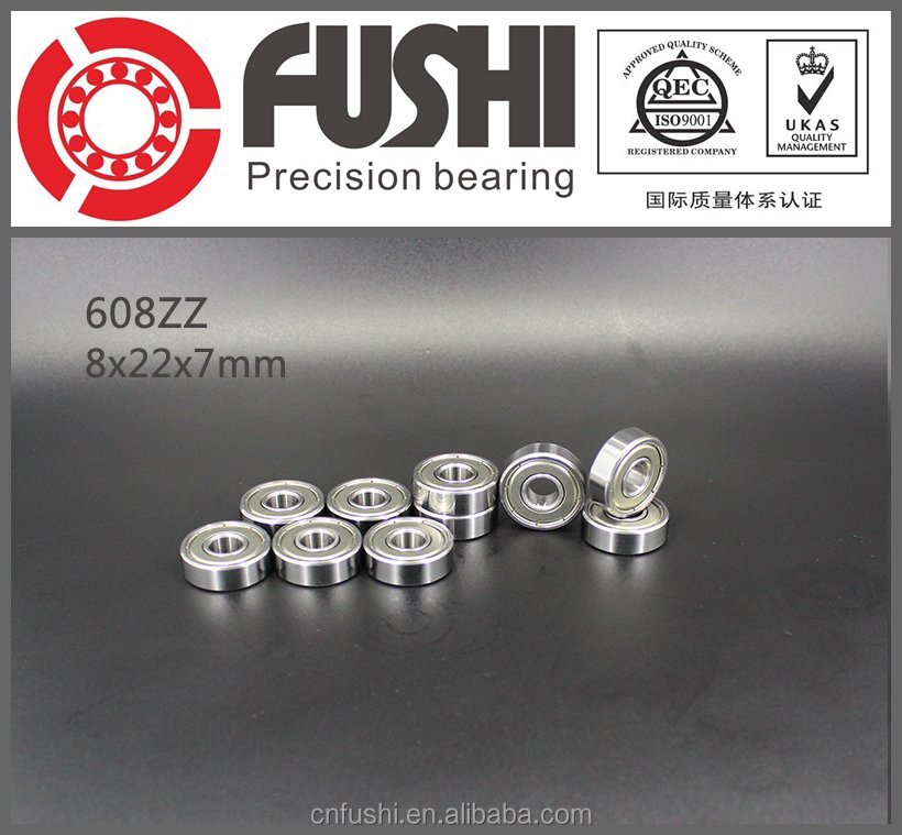 Manufacturer Made In China Miniature 8x22x7mm Deep Groove Ball Skate 608zz Bearing/ Bearing