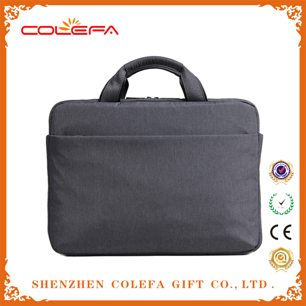 Promotional waterproof briefcase rolling leather mini bag for laptop