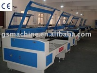 Double Head Auto Recognition Laser Cutting Machine for label and applique