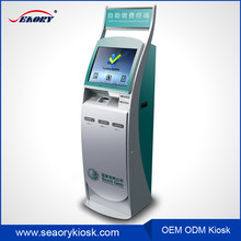 Automatic dual payment terminals with touch screen,electronic payment terminals for mobile phone charge