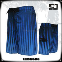 Blue Men's Costume Vertical Stripe Wholesale Swim Shorts For Men