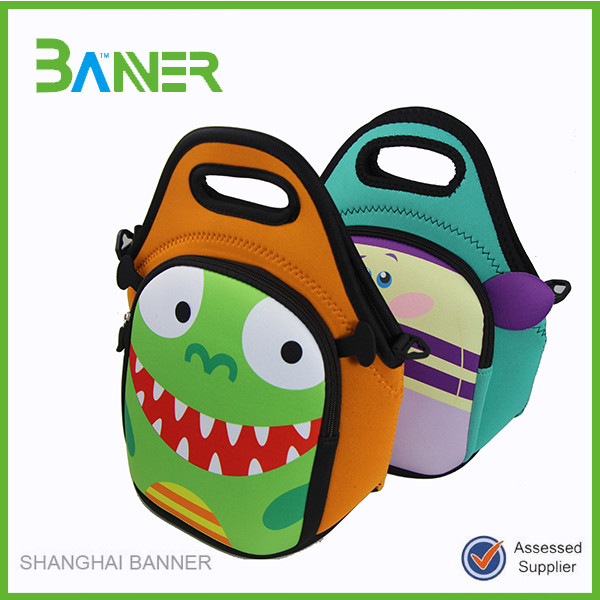Discount trendy Zipper Neoprene bicycle insulated lunch cooler bags