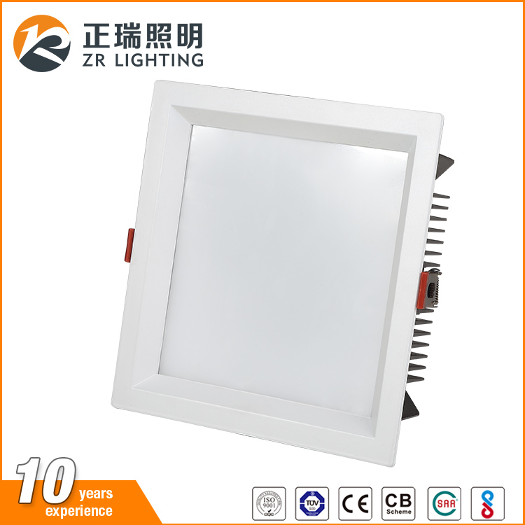 wholesale new design high power aluminum housing square dimmable recessed ceiling SMD led down light
