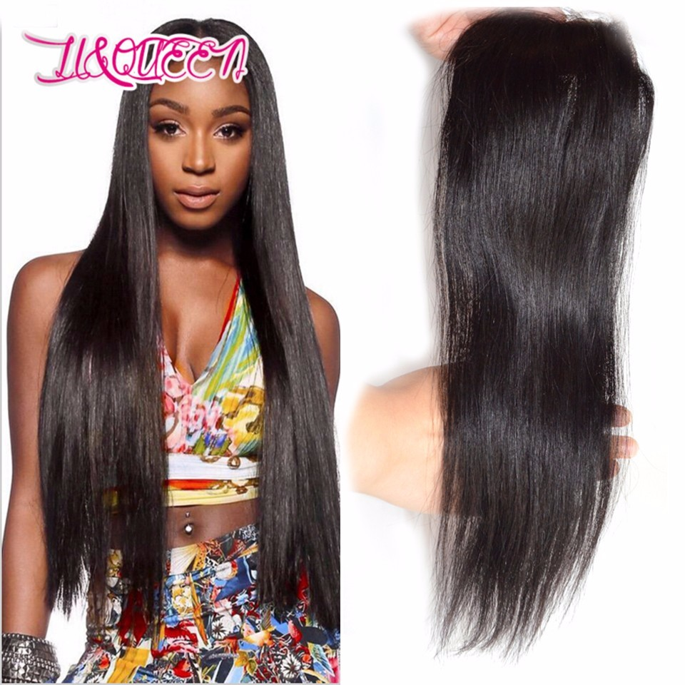 7A Malaysian virgin hair lace closure straight human hair closure free middle 3 prat straight closure Li&queen hair products