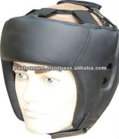 Professional Leather Black Boxing Head Guard