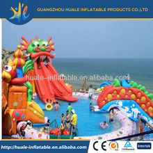 Inflatable water park with water pool fantastic inflatable water world for amusement park/resort