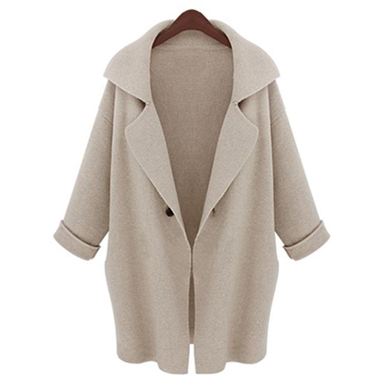 9a49e4c5d European Women Sweater Coats 2015Autumn Winter Oversized Crochet Trench  Coat Knit Overcoat Lady Long Cardigan Sweaters Plus Size