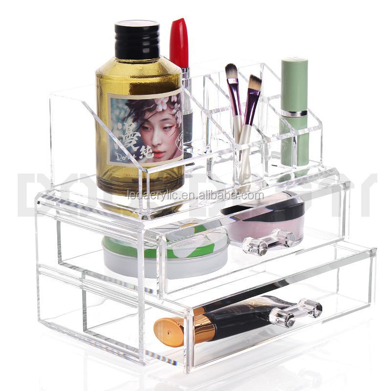 ACRYLIC CLEAR TRANSPARENT COSMETIC DISPLAY MAKE UP BOX ORGANISER STORAGE CASE