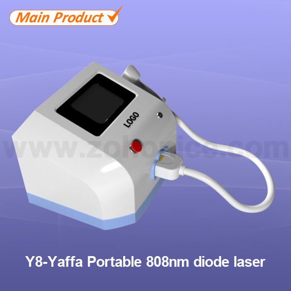Y8 808nm diode laser/808 portable diode laser hair removal with 755nm 1064nm