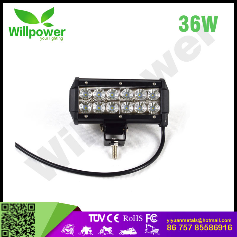 "2017 barras led 4x4 off road 7""inch 36W led lamps motorcycle led driving lights china supplier led bulbs"