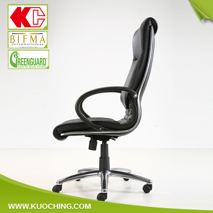 Popular Executive Swivel Leather Upper Back Support For Office Chair
