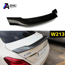 carbon fiber R look rear trunk spoiler for 2016 - IN 4 - door sedan Mercedes E class W213