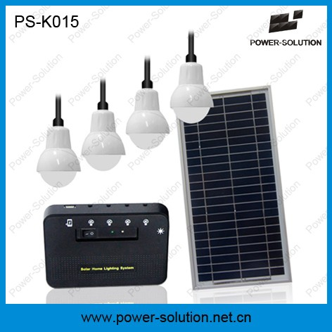 2016 new all in one home solar system with 4 LED bulbs mobile solar charger