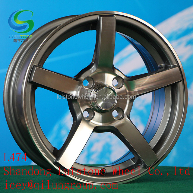14 15 16 17 inch silver black gunmetal machined face alloy wheels rims for car L474 Luistone from China manufacturer