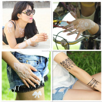 hot-selling necklace temporary flash bling white lace tattoo sticker