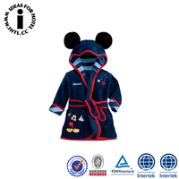 Wholesale Heated Cute Comfortable Baby Hooded Sleepwear Bathrobe