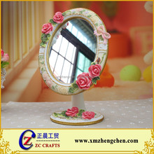 Creative Gifts Home Decorations Home Accessories European Style Flower Princess Mirror Desktop Makeup Mirror Frame Picture Frame