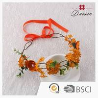 Good Feedback Custom Design Hair Hawaii Flower Wreath Crown Garlands For Indian Weddings