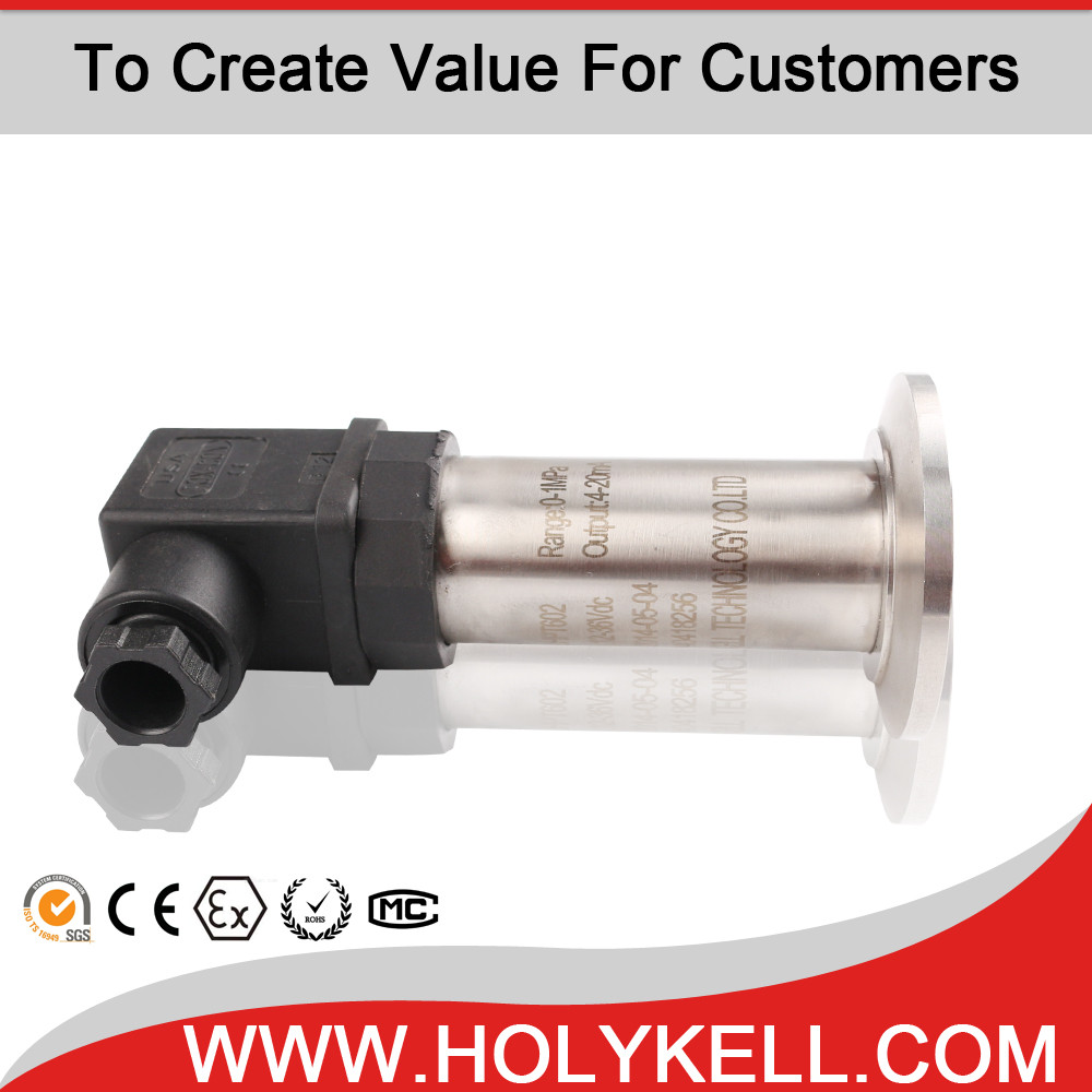 High accuracy diaphragm type direct mount pressure level transmitter