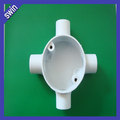 hot sell fireproof 4 way PVC electrical round box electrical junction box