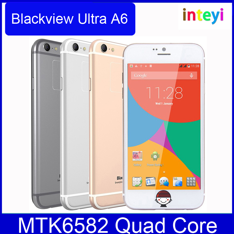 Original Blackview Ultra A6 Network 3G 4.7 inch Android 4.4 MTK6582M Quad Core 1.3GHz 1GB RAM 8GB ROM Smartphone