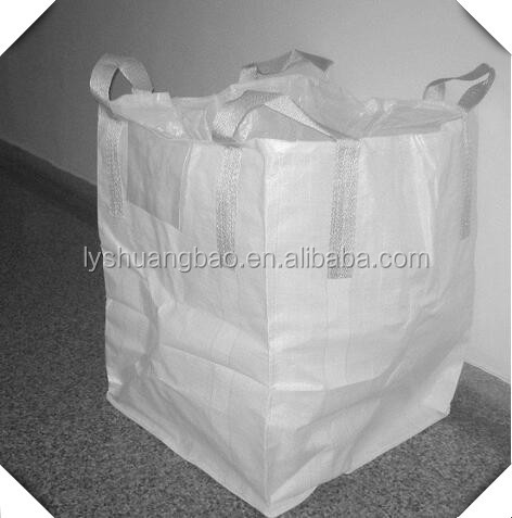 1 ton FIBC jumbo big bulk container pp bag manufacture for building material/rice/sand/garbage