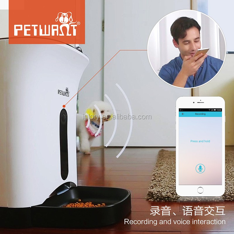 2017 remote control wifi smart APP for android and IOS web camera video monitor auto pet feeder