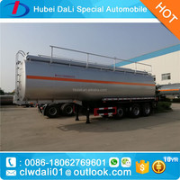 High quality low price tri-axles trailers 45000L fuel tank trailer tank truck