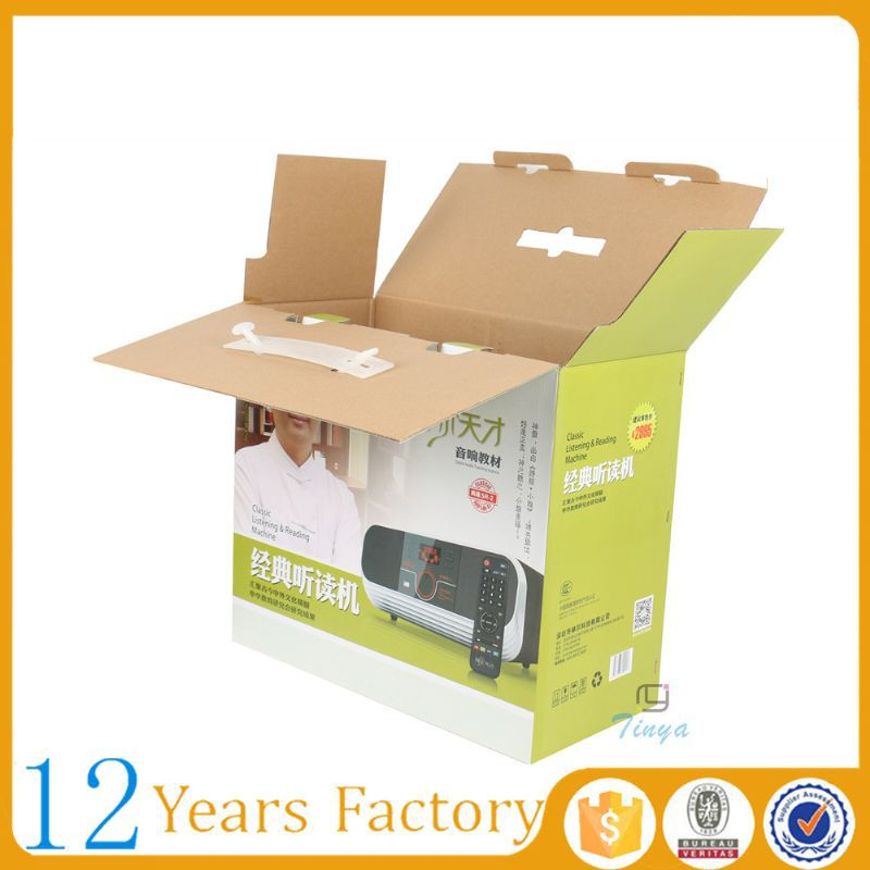 electronic packaging printed carton e-flute box