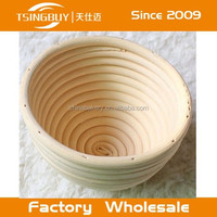 Traditional Round Natural Ratan Wooden Bread Dough Banneton Proving Rising Basket Bowl