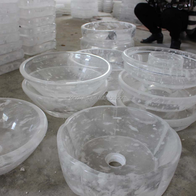 factory direct sale clear melting crystal basins